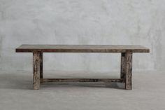 RECLAIMED ELM PLANK TABLE - STRAIGHT FRAME LEG
