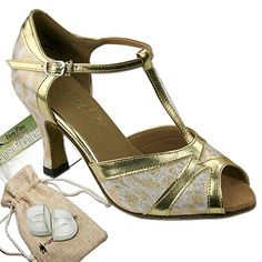 Bundle Lightweight Very Fine Women Ballroom Salsa Latin Tango Dance Shoe 2712 Heel Protectors Pouch Gold 95 M US Heel 25 Inch >>> Find out more about the great product at the image link.(This is an Amazon affiliate link and I receive a commission for the sales)