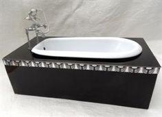 how to: miniature Art Deco bathtub