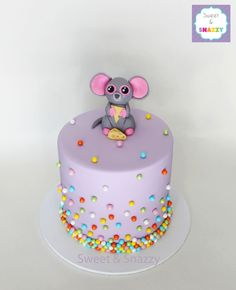Beanie Boos Cake - Squeaker the Mouse - by Sweet and Snazzy https://www.facebook.com/sweetandsnazzy