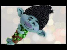 Branch trolls cake topper Branch Trolls cake DIY dreamworks trolls - YouTube