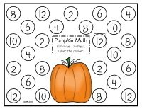 Free- Pumpkin Math (Doubles). Roll a dice, double it, color the circle.
