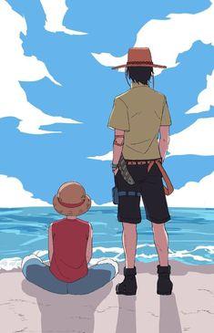 Ace And Luffy, One Piece Ace, Anime One, Haha, Boys, Fictional Characters, Greek Gods, Gatos, Baby Boys