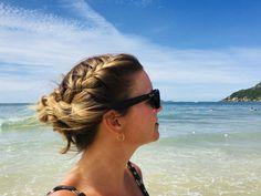 Peinado playero #peinados #peinadoplayero #hairstyles #beach #updo #updohairstyles #trenzas #braids #braidedhairstyles