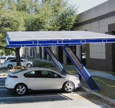 Solar Charging Electric Cars. Driving on Sunshine