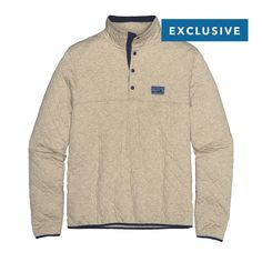 Our 40th anniversary Patagonia Men's Diamond Quilt Snap-T® Pullover is made of soft organic cotton for everyday layering warmth. Check it out.