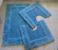 Vintage tappetini per bagno - Tappeti da bagno carta di zucchero - Arredo bagno vintage - Tappetini bagno per bambini di VintaFai su Etsy