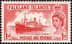 """GB Buque Correo RMS """"Fitzroy"""" 1931, de las Islas Malvinas"""