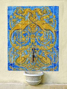 Painel de Azulejos - Museu do Açúde - Castro Maia - Alto da Boa Vista - Floresta da Tijuca - Mansão - Rio de Janeiro - Brasil
