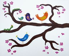 how to paint trees in a kids room - Google Search