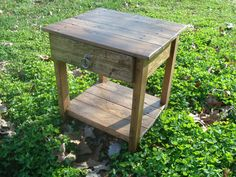 Reclaimed Wood Side Table by blueridgewoodworking on Etsy, $125.00