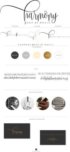 Harmony Shop Of Music · Hamptons Designs #branding #logo #brandstylist #photographer #musicshop