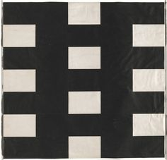 """Ellsworth Kelly. White and Black. 1952. Cut-and-pasted paper. 19 x 19 1/2"""" (48.2 x 49.5 cm). General Drawings Fund. 108.2000. © 2016 Ellsworth Kelly. Drawings and Prints"""