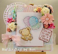 Lili of the valley handmade boxed card by Sam