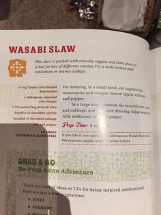 Wasabi slaw from the Trader Joes cookbook - threw the trader joes bbq shredded chicken on top and it was great