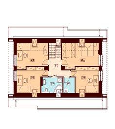 DOM.PL™ - Projekt domu DN DARLENA (garaż dwustanowiskowy) CE - DOM PC1-71 - gotowy koszt budowy House Plans, Floor Plans, How To Plan, Sexy, Future House, House Floor Plans, Home Floor Plans, Home Plans
