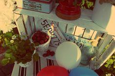 #wedding #decoration #redwhiteblue #strawberries #patriotic #strawberry