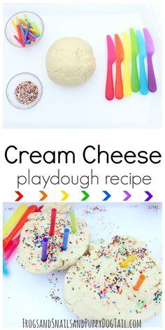 cream cheese playdough recipe for sensory play