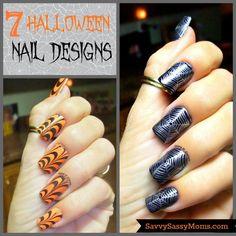 Halloween Nail Art  - Savvy Sassy Moms