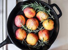 Rosemary, Bacon and Sugar Roasted Peaches