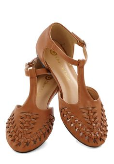 Fudge from the Fair Flat in Caramel | Mod Retro Vintage Flats | ModCloth.com $32.99 (out of stock)