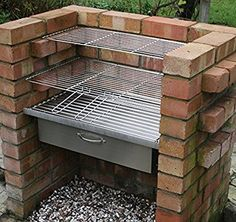 SunshineBBQs Stainless Steel Brick BBQ Kit and Oven Attachment