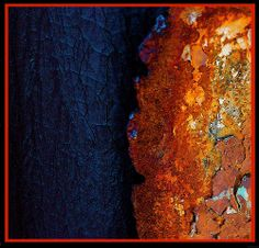 WOW dark blue and rust~