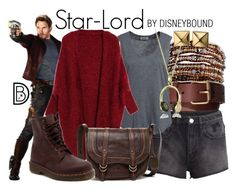 Star-Lord by leslieakay on Polyvore featuring Hunkydory, H&M, Dr. Martens, Frye, Chan Luu, Waterford, Andrew Hamilton Crawford, disney, disneybound and disneycharacter