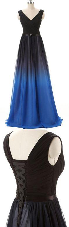 Royal Blue Prom Dresses, Long Prom Dresses, Sleeveless