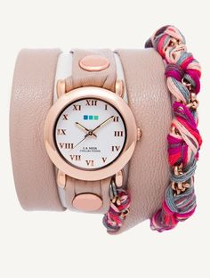 Simple, fresh & fun. I WANT IT SO BAD!!  Series: Fuschia Friendship Bracelet Wrap (La Mer Watch)