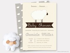 Gray Sheep Baby Shower Invitation Printable, Sweet Little Lamb Baby Shower Theme, Baby Thank You Cards Template neutral, Custom Colors by CuteMusePrintable on Etsy https://www.etsy.com/au/listing/253086026/gray-sheep-baby-shower-invitation