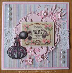 "Scrapcard ""Parfum"" made by Aukje Hetebrij"