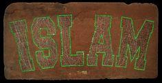 ISLAM in college font // Kolej fontunda ISLAM cm screw and steel cable on wood-mdf // mdf üzerine çelik tel ve vida 2011 Wood Art, Mdf Wood, Steel Metal, Deconstruction, Conceptual Art, Buy Art, Documentaries, Saatchi Art, Islam