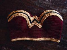 Wonder Woman Crochet Cropped top wonder woman by Phospheness