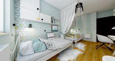 Kuchnia w skandynawskim stylu | NEFA Architekci - Studio projektowe Toddler Bed, Studio, Furniture, Home Decor, Kids Rooms, Child Room, Attic Spaces, Child Bed, Decoration Home