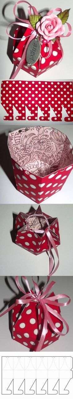 DIY Hexagonal Gift Box with Template