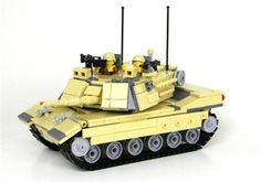 This Custom Battle Brick M1A2 Tank Complete Set Comes In A Box Fully Loaded With Over 465 Real LEGO® Pieces and 116 custom tread links!