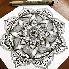 Pin by cindy capps on templates Mandala Doodle, Mandala Art, Doodle Art, Tattoo Painting, Mandala Painting, Mandala Tattoo Design, Tattoo Designs, Body Art Tattoos, Nature Tattoos