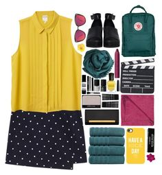 """Have a Nice Day!"" by ritaflagy ❤ liked on Polyvore featuring Monki, LINUM, Yves Saint Laurent, The WhitePepper, Deborah Lippmann, Quay, tarte, Accessorize, Bajra and Marc Jacobs"