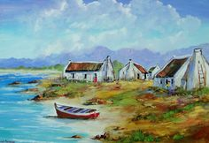 Art Painting by Louis Pretorius includes Red Door, this example of Seascapes has inspired this exceptionally talented artist. View other Paintings by Louis Pretorius in our Online Art Gallery. Watercolor Landscape, Abstract Landscape, Landscape Paintings, South African Art, Online Painting, Beach Art, Online Art Gallery, Oil On Canvas, Seaside Cottages