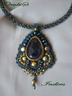 crafty jewelry: embroidery necklace | make handmade, crochet, craft
