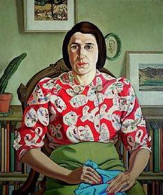 "Rita Angus, ""Portrait of Betty Curnow"". Auckland Art Gallery Toi o Tamaki, NZ Female Portrait, Female Art, Tamara Lempicka, Auckland Art Gallery, Francoise Gilot, Japanese Woodcut, New Zealand Art, Nz Art, Collaborative Art"