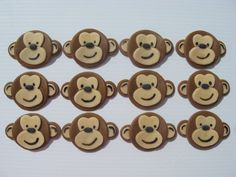 Monkey Cupcake Decorations - via Etsy.