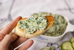 "Creamy Vegan Spinach Jalapeno Dip.  "" I made this yesterday and it was SO SO GOOD that I ate it all.""         I wlll be making this on Tuesday."
