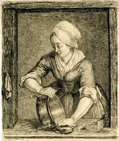 Peasant Scours a Cauldron. 1780. British Museum, 1877 1013 519