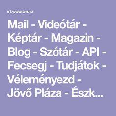 Mail - Videótár - Képtár - Magazin - Blog - Szótár - API - Fecsegj - Tudjátok - Véleményezd - Jövő Pláza - Észkerék - ReceptBázis Blog, Blogging