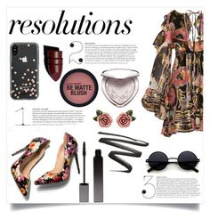 """""""#PolyPresents: New Year's Resolutions"""" by kitty-cat130 ❤ liked on Polyvore featuring Dundas, Kate Spade, Dolce&Gabbana, Serge Lutens, Anastasia Beverly Hills, Too Faced Cosmetics, contestentry and polyPresents"""