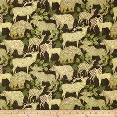 Alpine Woods Alpine Silhouettes Forest/Tan from @fabricdotcom  Designed by Bristol Bay Studio for Benartex, this cotton print fabric is perfect for quilting, apparel and home decor accents. Colors include tan, green and brown.