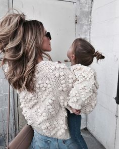 chunky sweaters mother daughter outfits - It's a Girl Mother Daughter Outfits, Mommy And Me Outfits, Mom Daughter, Girl Outfits, Foto Baby, Sanya, Baby Family, Mom And Baby, Baby Baby