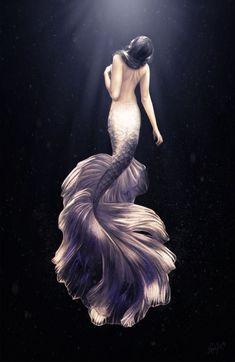 Mermaid beautiful art love you my rubber duckies love ❤️ Fantasy Kunst, Fantasy Art, Mermaid Fairy, Mermaids And Mermen, Mermaid Tattoos, Wow Art, Merfolk, Magical Creatures, Amazing Art